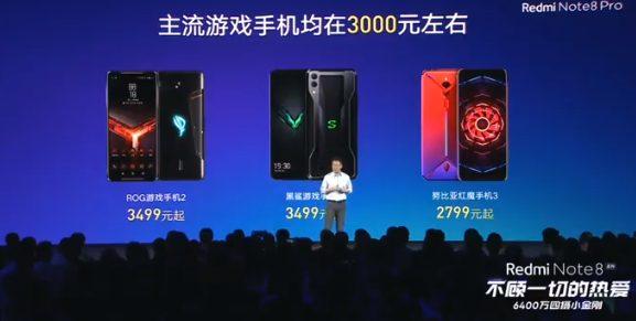 Redmi Note 8 Pro порівняння з ігровими смартфонами