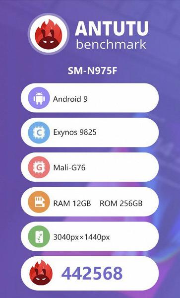 Samsung Galaxy Note10 + antutu