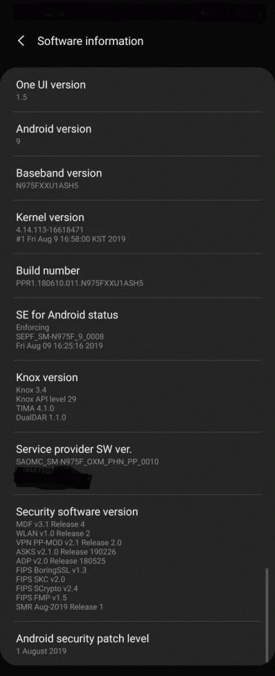 Samsung Galaxy Note10 update