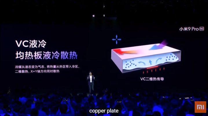 Xiaomi Mi 9 Pro 5G - система охолодження