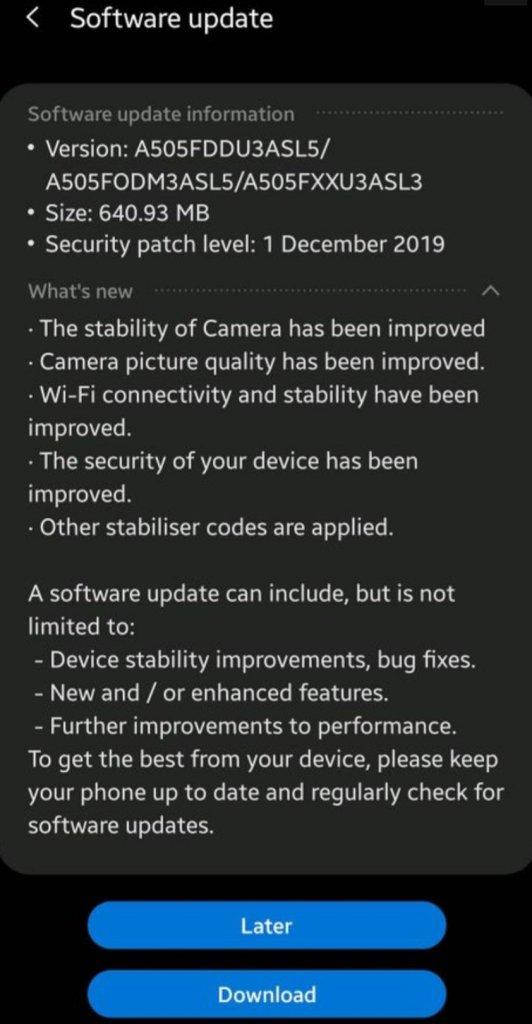 Samsung підтягла камеру Galaxy A50 в новому оновленні