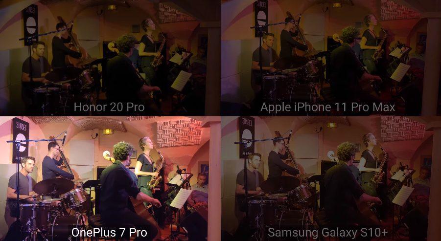 Запис концерту на Honor 20 Pro, iPhone 11 Pro Max, OnePlus 7 Pro і Samsung Galaxy S10 +