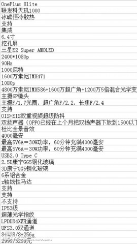 Розкрито повні характеристики всієї лінійки OnePlus 8
