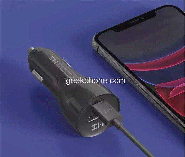 Автомобільний зарядний пристрій Xiaomi ZMI