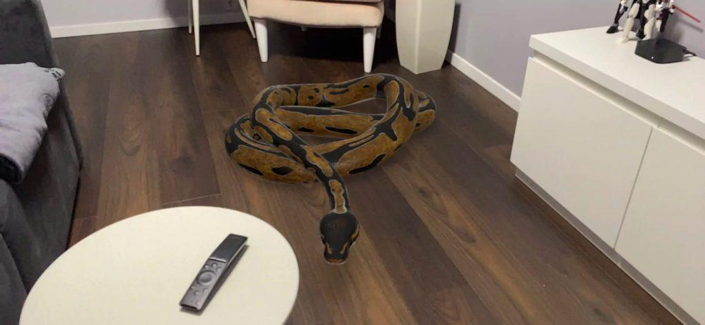 Змія в AR
