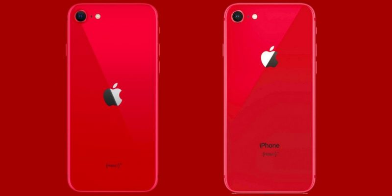 iPhone SE 2020 (ліворуч) і iPhone 8 (праворуч) / Apple