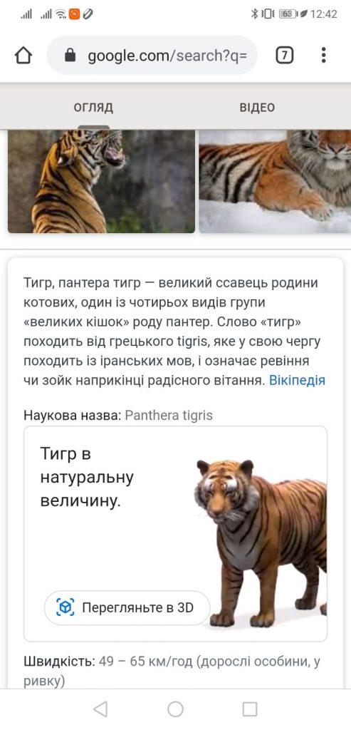 Тигр в 3D