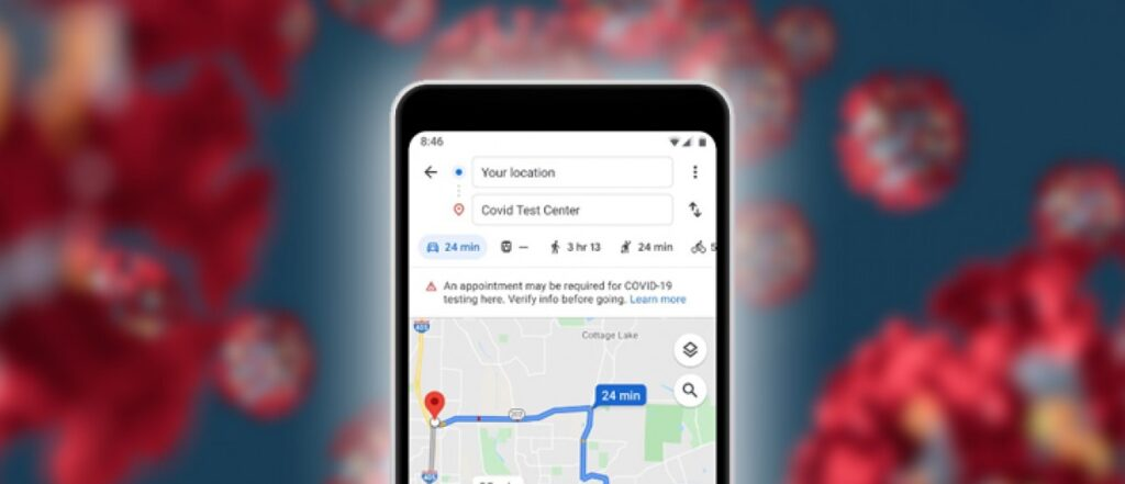 коронавірус Google Maps