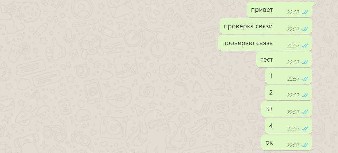 WhatsApp тест